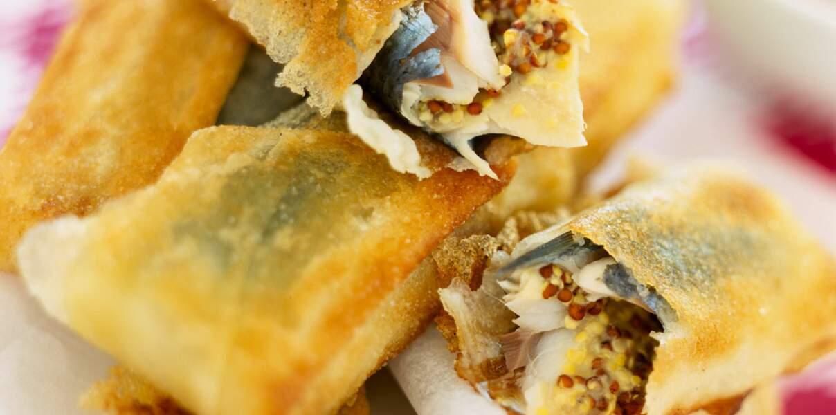 Croustillants de sardine à la moutarde