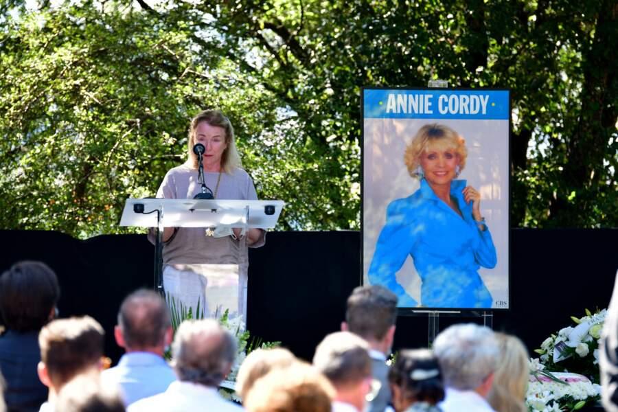 Le discours de Michèle Lebon, la nièce d'Annie Cordy