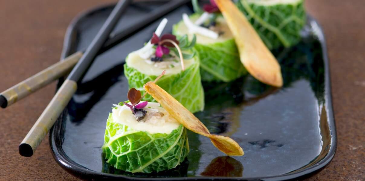 Makis de Ratte du Touquet à l'huître et chou kale