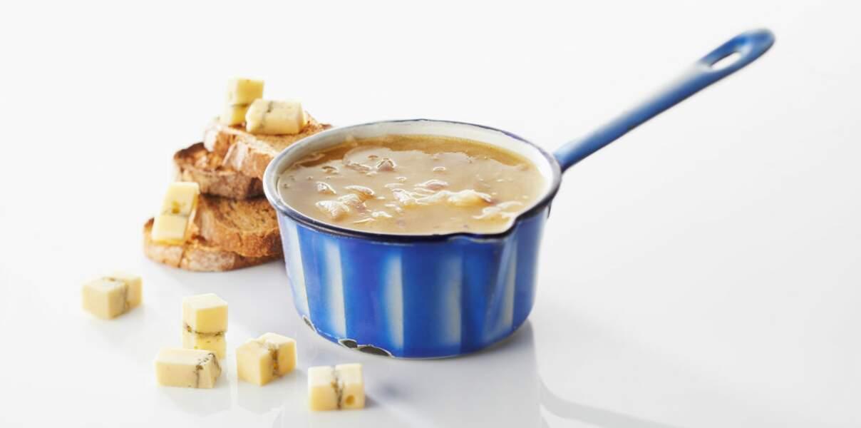 Soupe à l'oignon et au morbier
