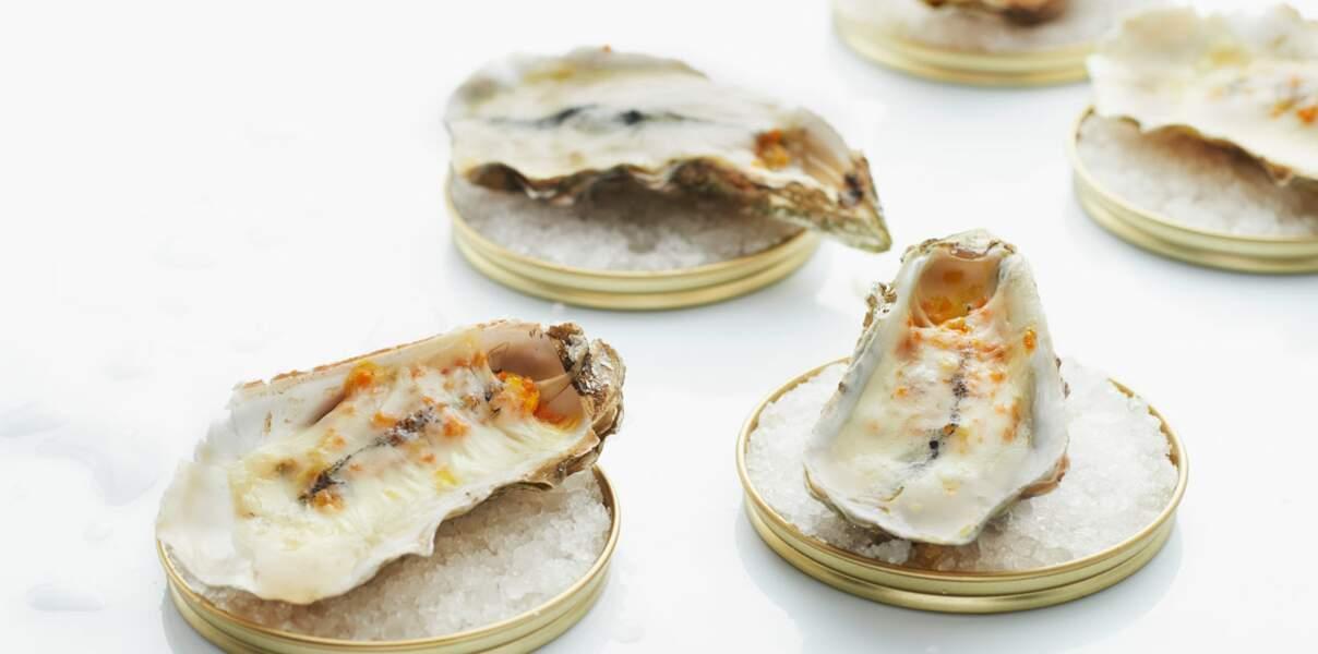 Huîtres gratinées au morbier