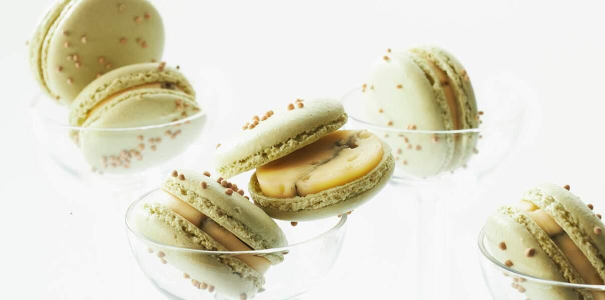 Macarons surprise au morbier