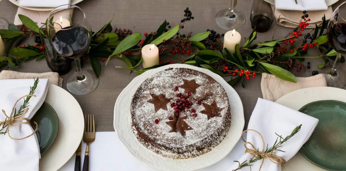 Gâteau au chocolat sans farine au sucre de fleur de cocotier