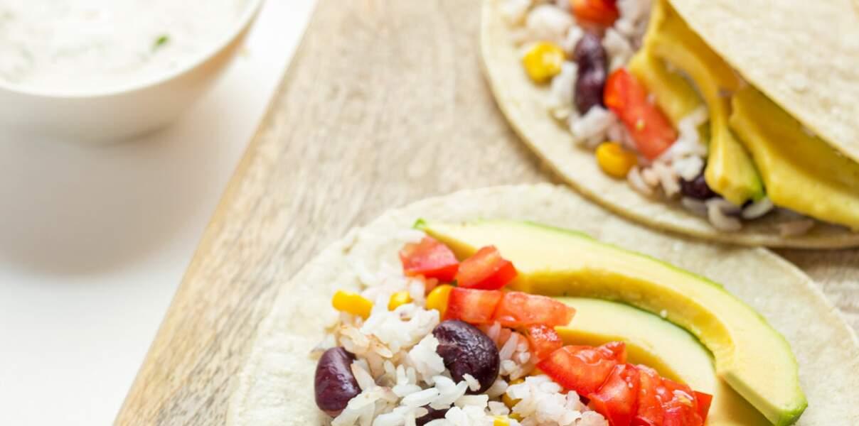 Tacos végétariens à la mexicaine