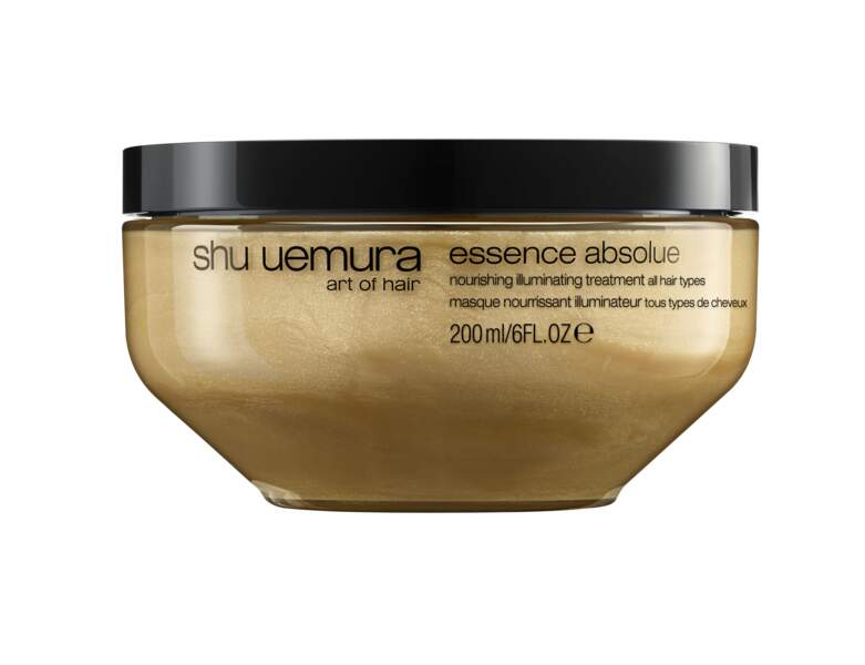 Masque nourrissant illuminateur, Essence absolue de Shu Uemura Art of Hair