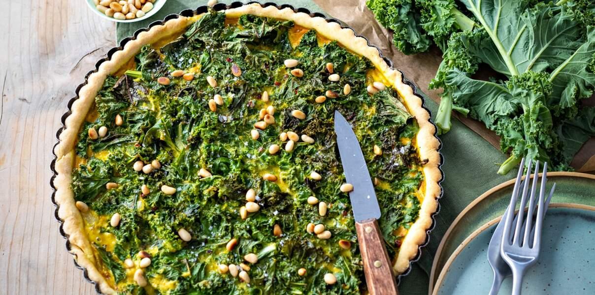 Tarte crousti-fondante au chou kale
