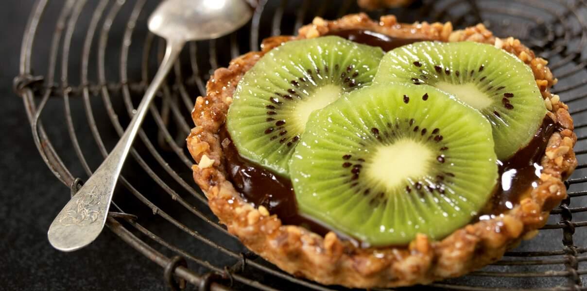 Tartelettes express kiwi chocolat