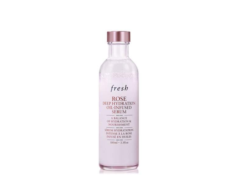 Sérum hydratant : Sérum hydratation intense à la rose infusée en huiles de Fresh