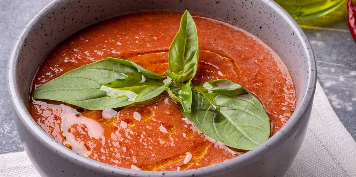 Gaspacho tomate-fraises