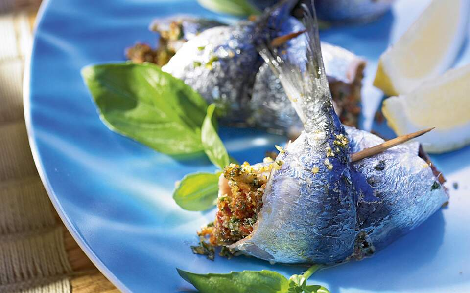 Sardines farcies au pesto rouge