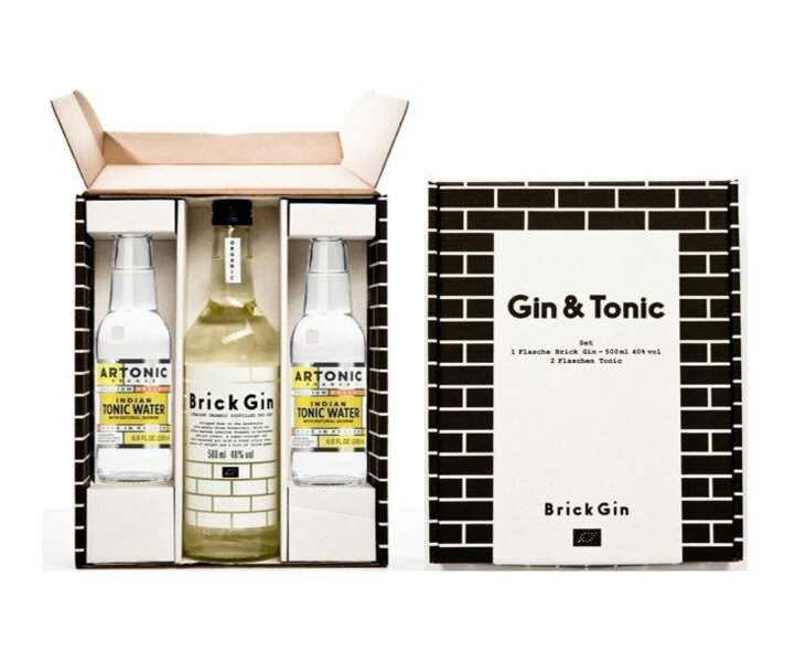 Cadeaux gourmands: Brick Gin & Artonic