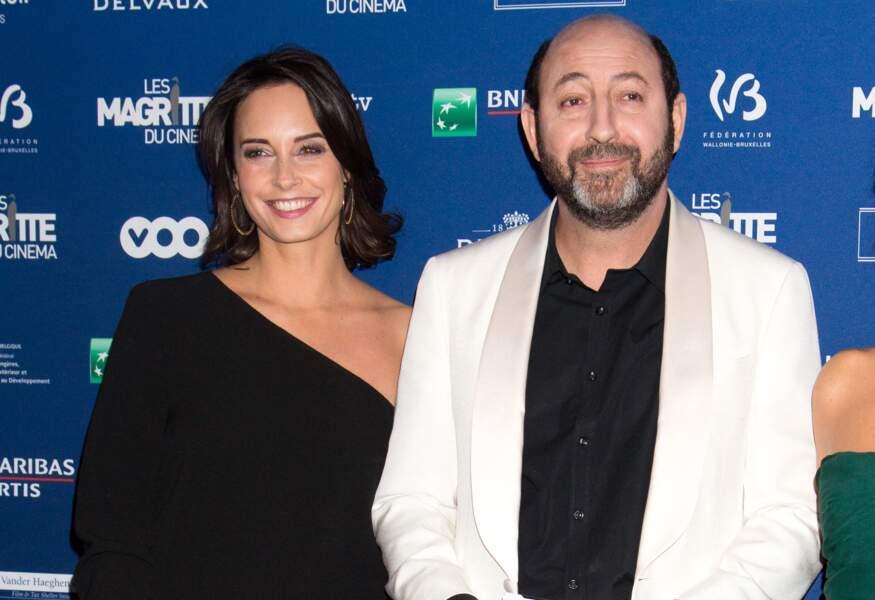 Kad Merad et Julia Vignali à la 6e édition de la cérémonie des Magritte du cinéma, à Bruxelles