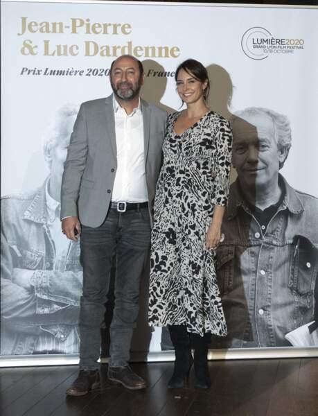 Kad Merad et Julia Vignali à la 12e édition du Festival du film Lumière, à Lyon