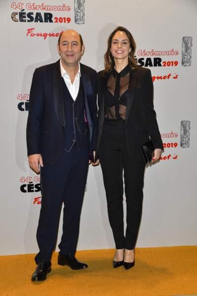 Kad Merad et Julia Vignali à la 44e cérémonie des César au Fouquet's, à Paris