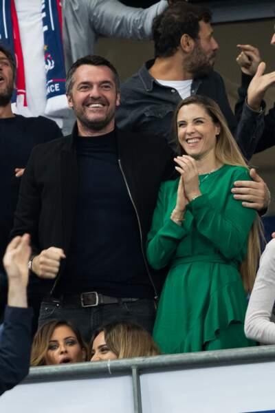 """Ou encore dans les tribunes lors du match de qualification pour l'Euro2020  """"France - Turquie"""", au Stade de France, en octobre 2019."""