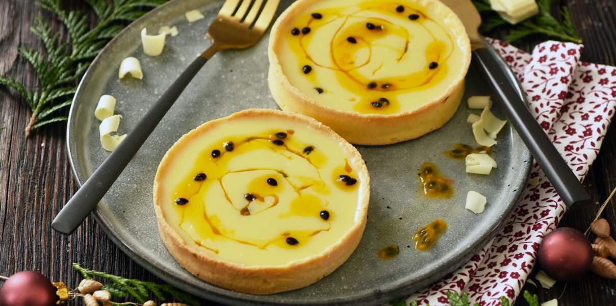 Tartelettes au chocolat blanc et fruits de passion