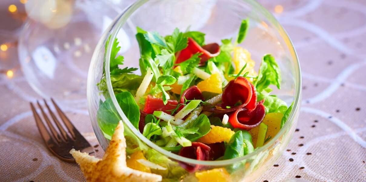 Salades de magrets séchés à l'orange