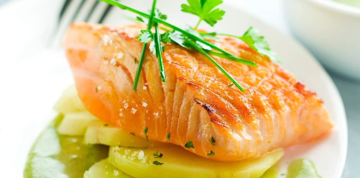 Pavés de saumon grillés à l'oseille