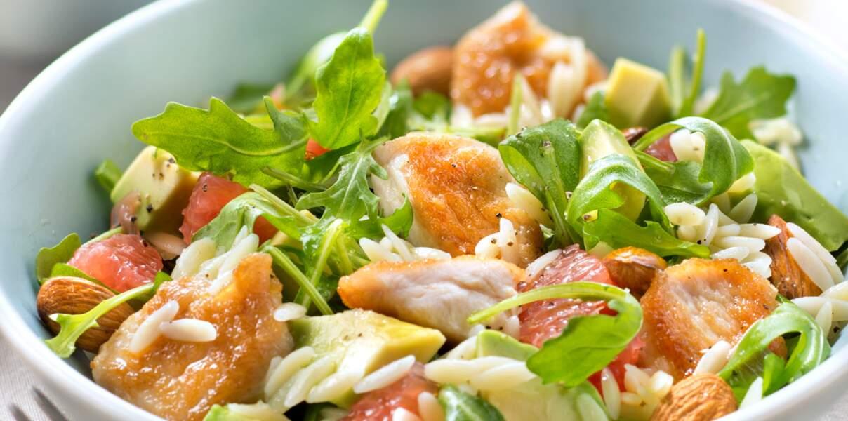 Salade complète acidulée en chaud et froid