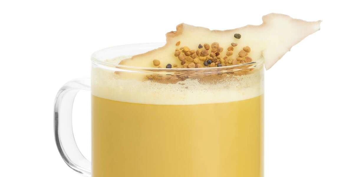 Mocktail Golden Latte miel gingembre