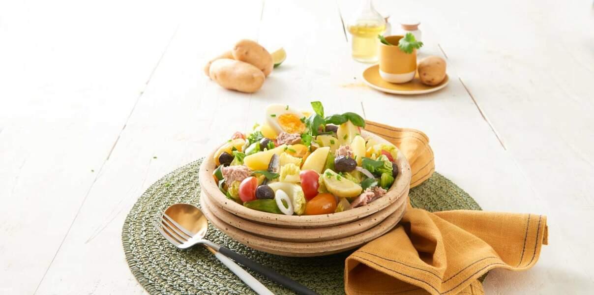 Salade de pommes de terre Pompadour à la niçoise