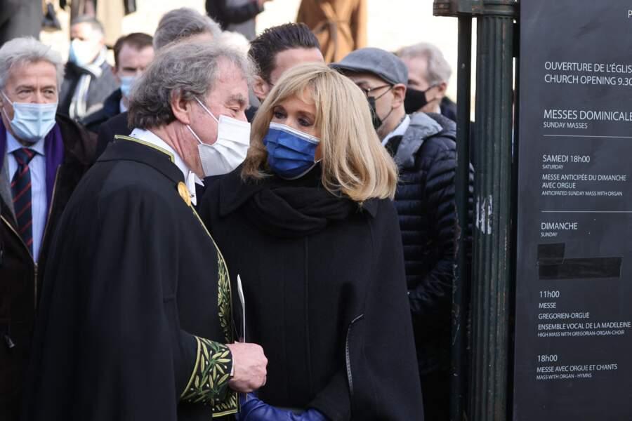 L'architecte Jean-Michel Wilmotte et Brigitte Macron