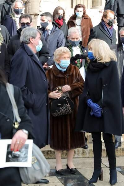 Xavier darcos, Hélène Carrère d'Encausse et Brigitte Macron