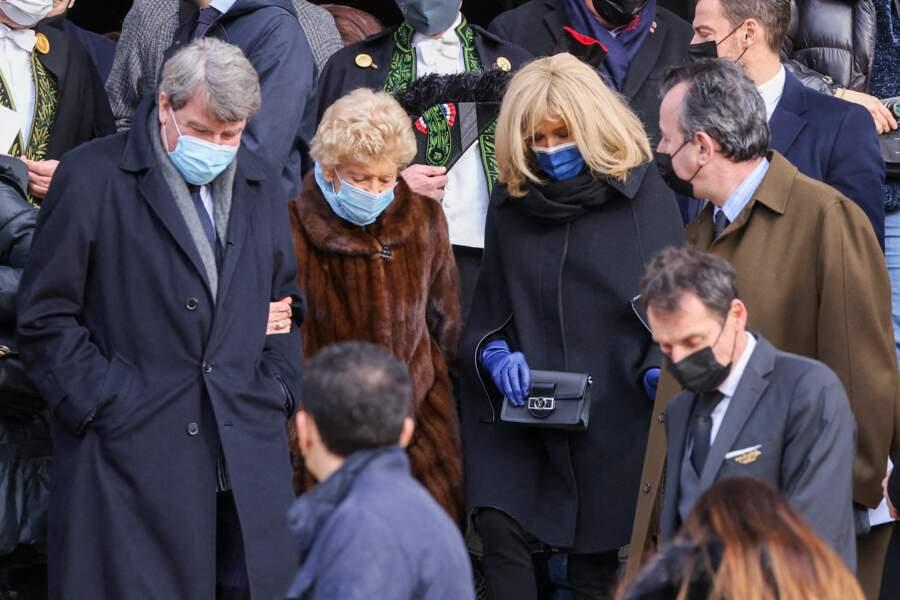 Xavier Darcos, Hélène Carrère d'Encausse, Brigitte Macron et José Pietroboni