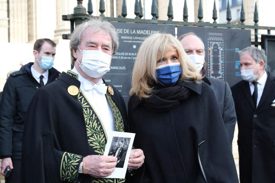 Jean-Michel Wilmotte et Brigitte Macron