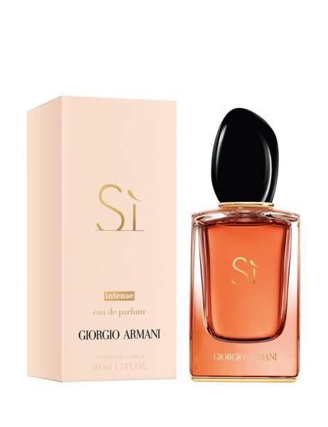 Si, eau de parfum intense, de Giorgio Armani