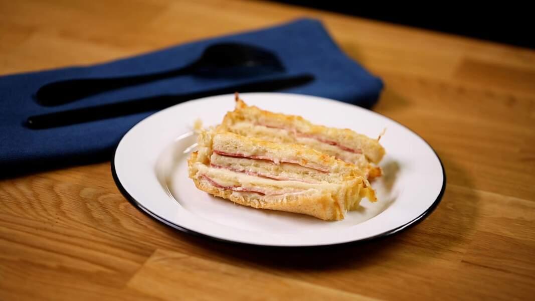 Croque cake : l'incroyable recette du croque monsieur géant à partager