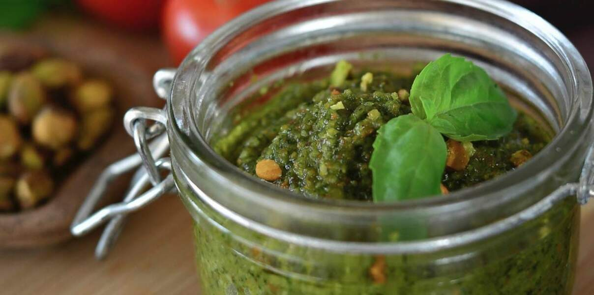 Pesto de pistaches au basilic