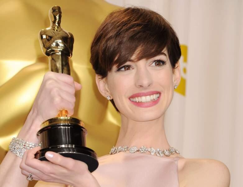La coupe boule d'Anne Hathaway