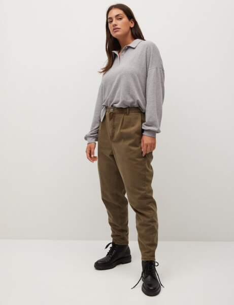 Mode ronde : le tee-shirt polo, le pantalon kaki et les bottines