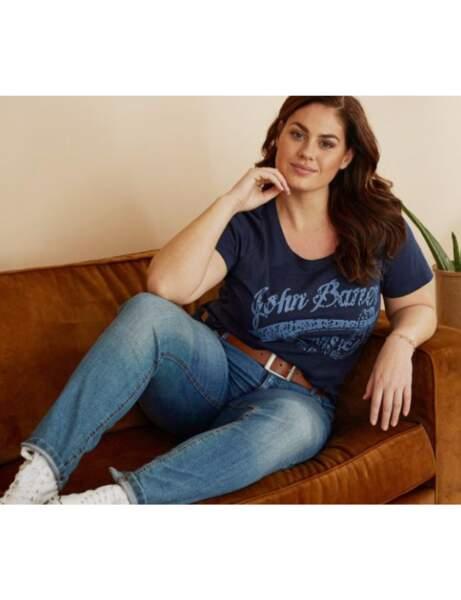 Mode ronde : le jean skinny et le tee-shirt