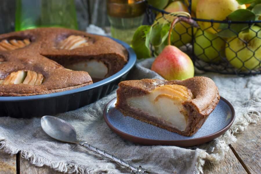 La recette du gâteau poire-chocolat de Cyril Lignac