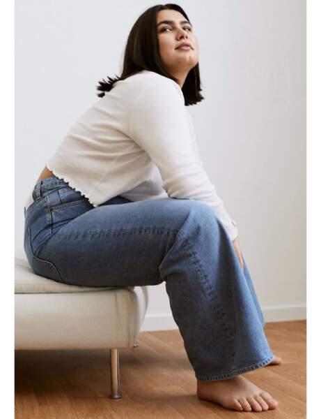 Mode ronde : le jean large et le pull blanc