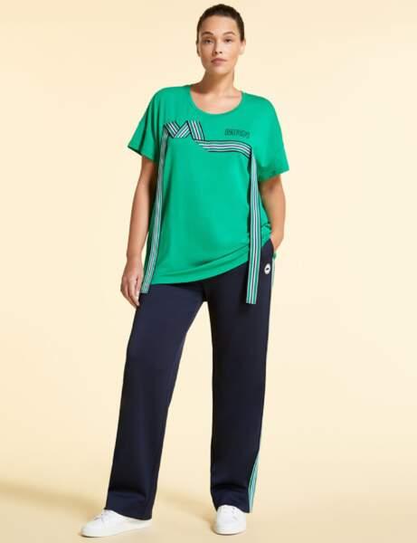Mode ronde : le pantalon en jersey et le tee-shirt