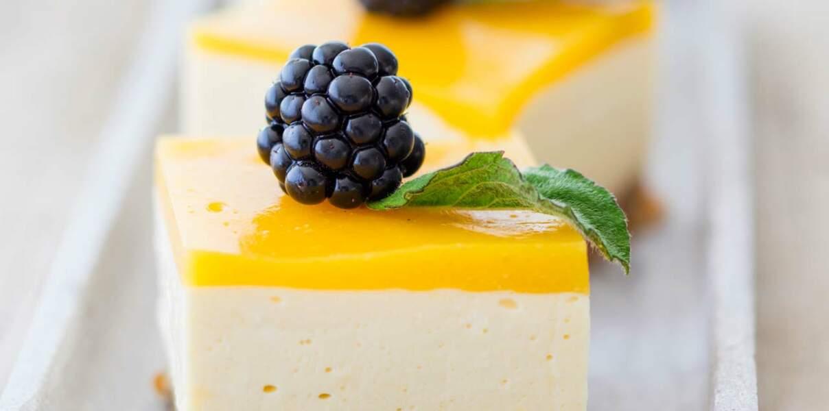 Cheesecake au coulis de mangue