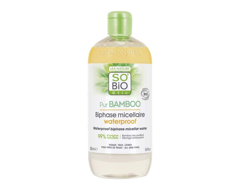 Démaquillant 2 en 1 Biphase Micellaire Waterproof de So Bio Etic'