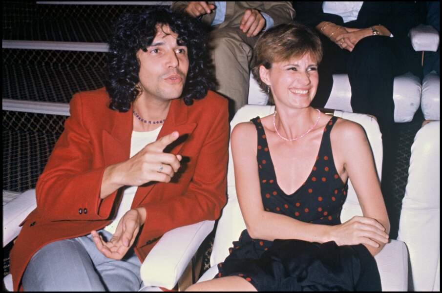 """Le couple à la première du film """"Le dernier métro"""", à Paris, en 1980."""