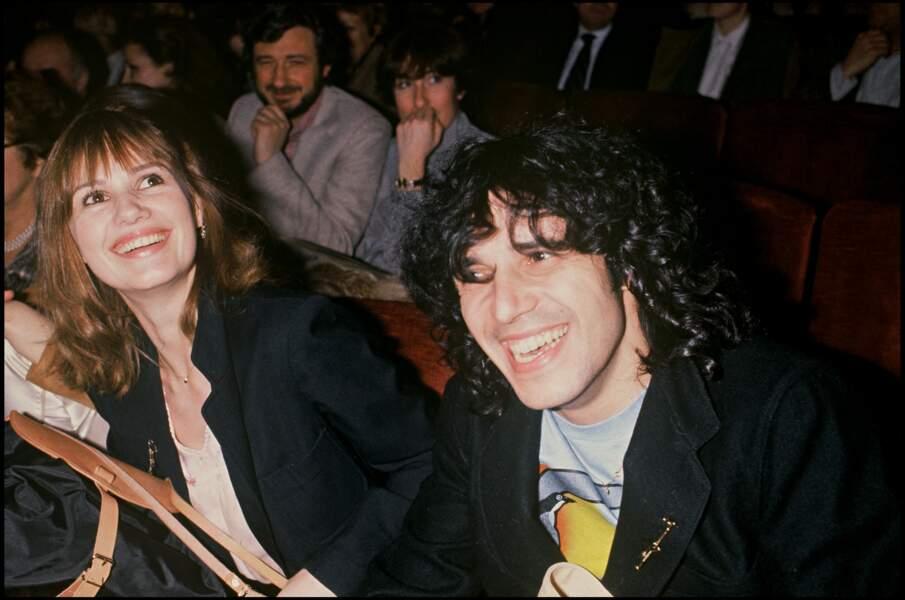 Miou-Miou et Julien Clerc lors d'une sortie publique, en 1979.