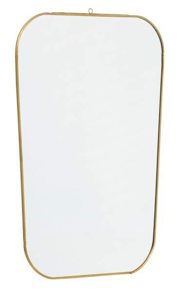 Miroir en laiton et verre
