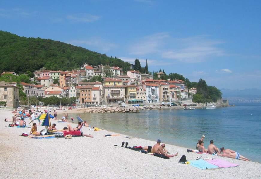 La plage de Moscenicka Draga
