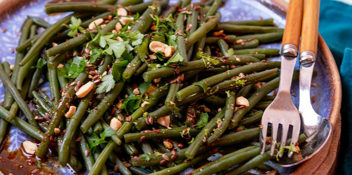Salade de haricots à l'asiatique