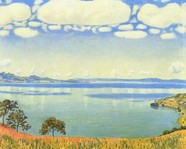 Le lac de Genève vu de Chexbres par Ferdinand Hodler