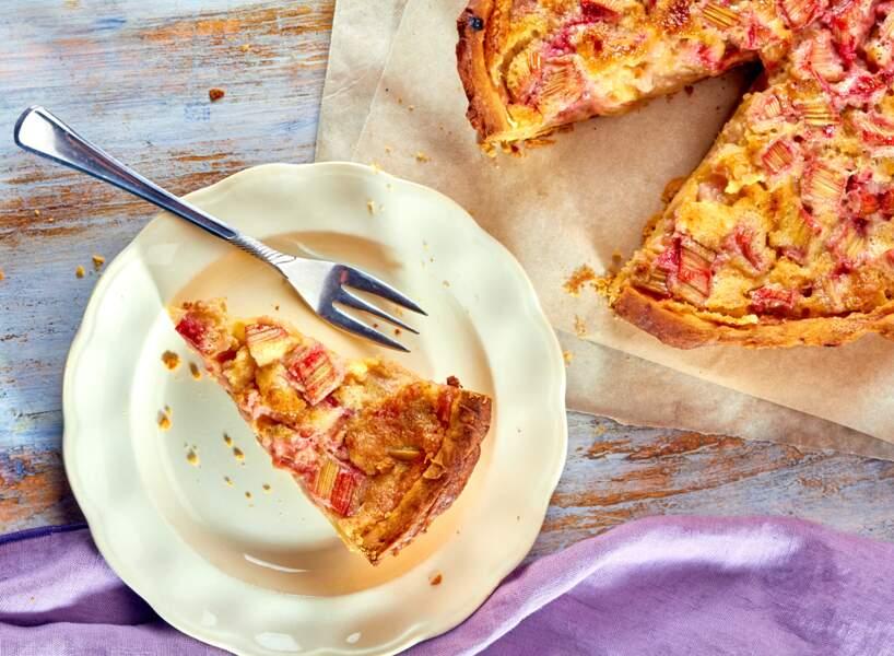 La tarte à la rhubarbe de Cyril Lignac
