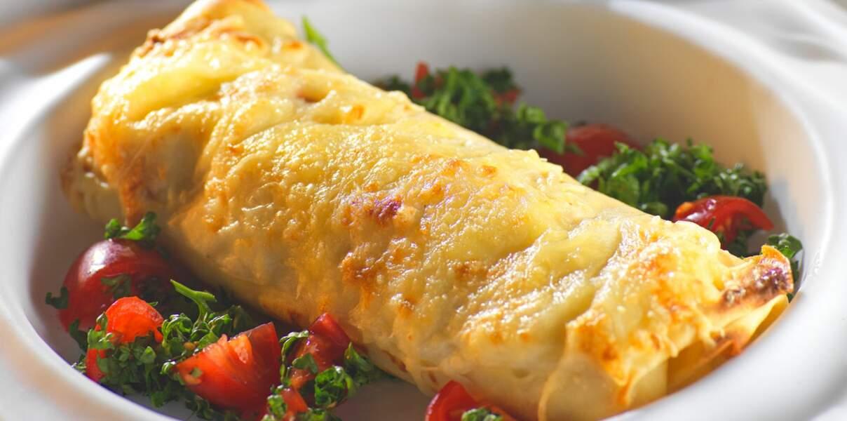 Crêpes jambon fromage béchamel
