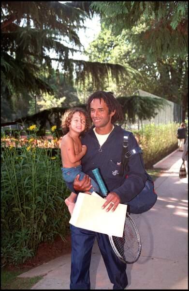 Yannick Noah et son fils Joakim