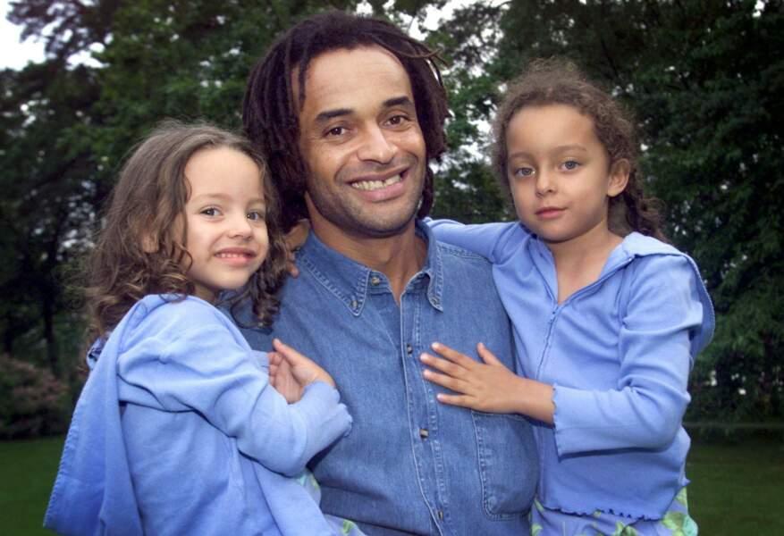 Yannick Noah et ses filles Jenaye et Eleejah